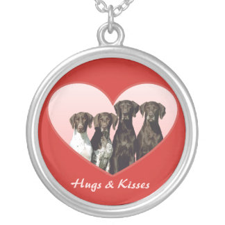 German Shorthaired Pointer Heart Necklace