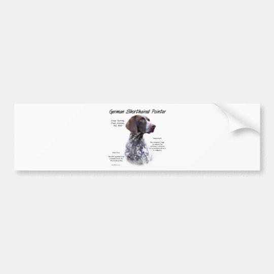 German Shorthaired Pointer History Design Bumper Sticker