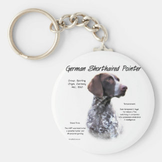German Shorthaired Pointer History Design Key Chain