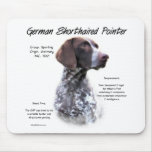 German Shorthaired Pointer History Design Mousepad
