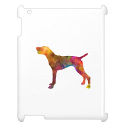 Case Savvy Glossy Finish iPad Case with German Shorthaired Phone Cases design