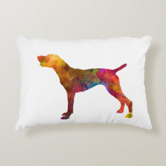 German Shorthaired Pointer in watercolor Decorative Pillow