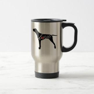 German Shorthaired Pointer Love 15 Oz Stainless Steel Travel Mug