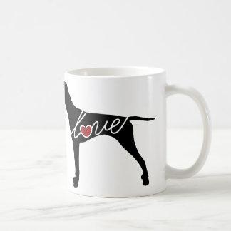 German Shorthaired Pointer Love Classic White Coffee Mug