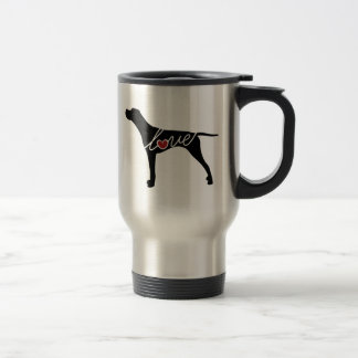 German Shorthaired Pointer Love Travel Mug