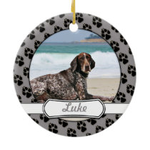German Shorthaired Pointer - Luke - Riley Ceramic Ornament