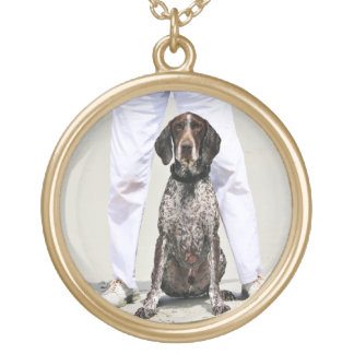 German Shorthaired Pointer - Luke - Riley Gold Plated Necklace