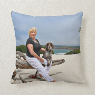 German Shorthaired Pointer - Luke - Riley Throw Pillow