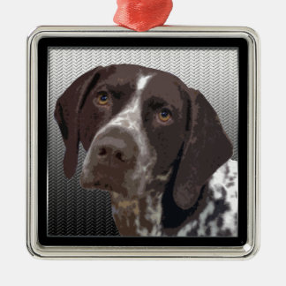 German Shorthaired Pointer Metal Ornament