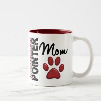 German Shorthaired Pointer Mom 2 Two-Tone Coffee Mug