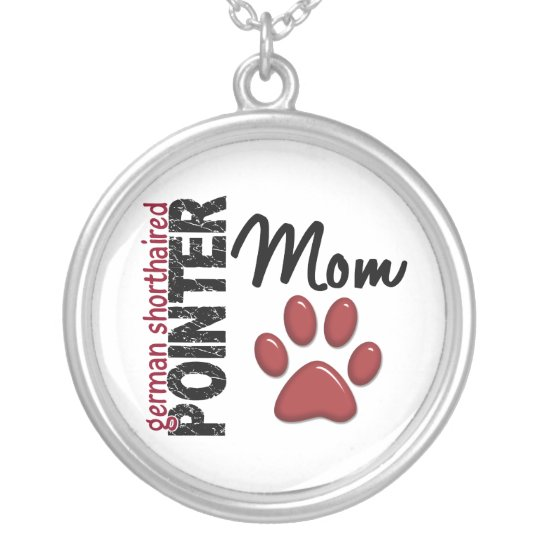German Shorthaired Pointer Mom 2 Silver Plated Necklace