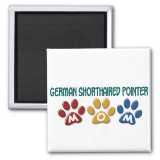 GERMAN SHORTHAIRED POINTER Mom Paw Print 1 2 Inch Square Magnet