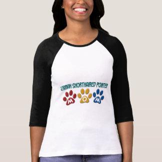 GERMAN SHORTHAIRED POINTER Mom Paw Print 1 Tshirts
