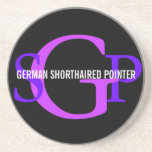 German Shorthaired Pointer Monogram Design Coasters
