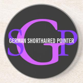 German Shorthaired Pointer Monogram Design Coaster