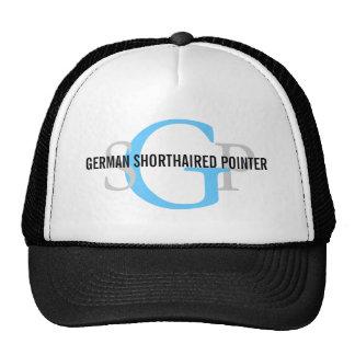 German Shorthaired Pointer Monogram Design Trucker Hats