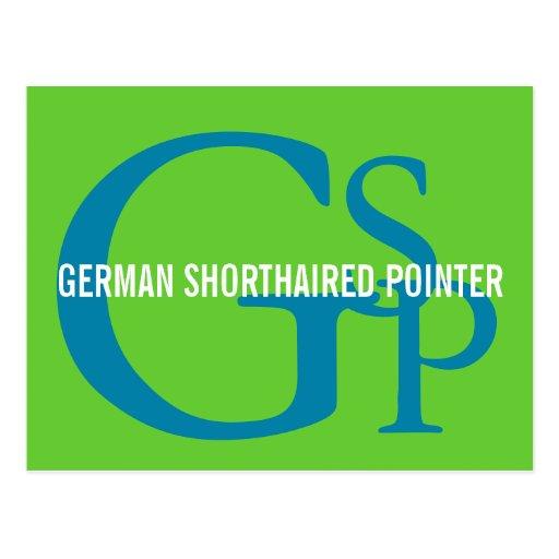 German Shorthaired Pointer Monogram Design Postcard