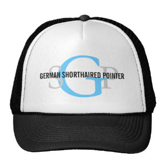 German Shorthaired Pointer Monogram Design Trucker Hat