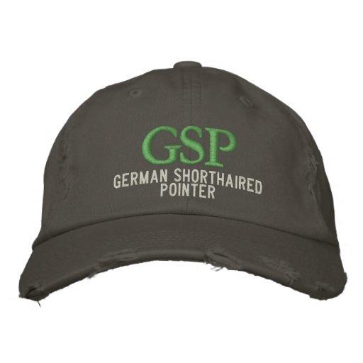 German Shorthaired Pointer Monogram Embroidered Hat
