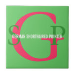 German Shorthaired Pointer Monogram Tile