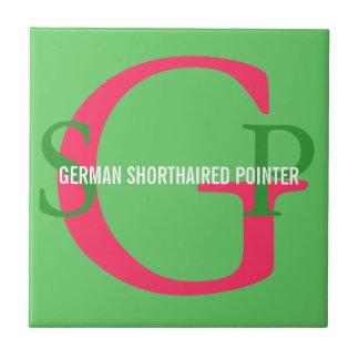 German Shorthaired Pointer Monogram Tile