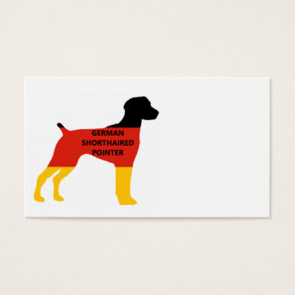 german shorthaired pointer name flag silhouette business card