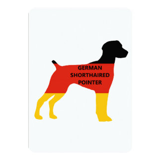german shorthaired pointer name flag silhouette card