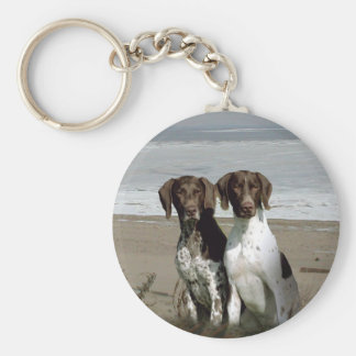German Shorthaired Pointer On The Beach  Keychain