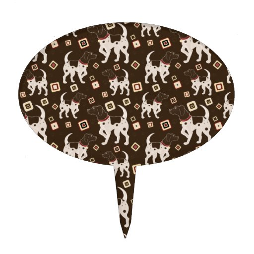 german shorthaired pointer wedding cake topper german shorthaired pointer pattern cake topper zazzle 14674