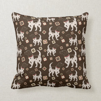 German Shorthaired Pointer Pattern Pillows
