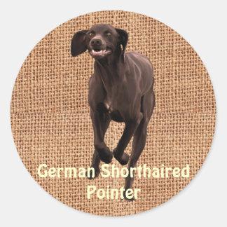 German Shorthaired Pointer Pet-lover Classic Round Sticker