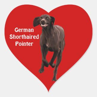 German Shorthaired Pointer Pet-lover Heart Sticker