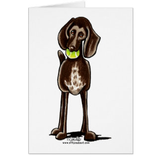 German Shorthaired Pointer Playtime Card