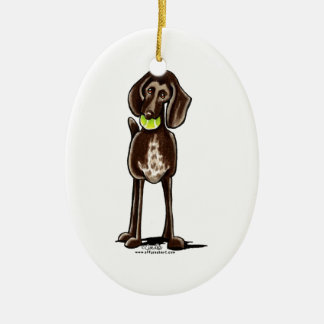 German Shorthaired Pointer Playtime Christmas Tree Ornaments