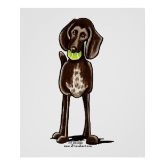 German Shorthaired Pointer Playtime Poster