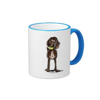 German Shorthaired Pointer Playtime Ringer Coffee Mug