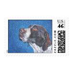German Shorthaired Pointer postage stamp gsp