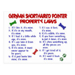 GERMAN SHORTHAIRED POINTER Property Laws 2 Postcard