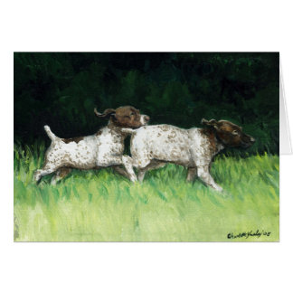 """German Shorthaired Pointer Pups"" Greeting Card"