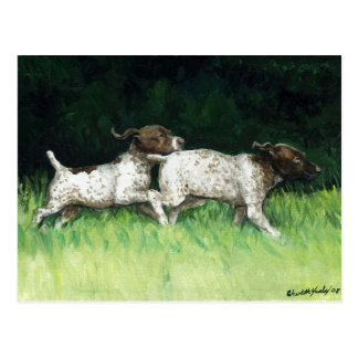 """""""German Shorthaired Pointer Pups"""" Postcard"""