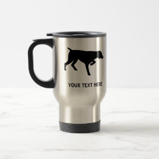 German Shorthaired Pointer silhouette 15 Oz Stainless Steel Travel Mug