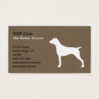 German Shorthaired Pointer Silhouette Business Card