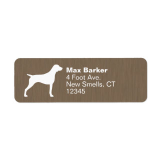 German Shorthaired Pointer Silhouette Label