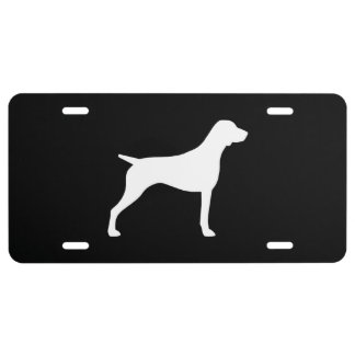 German Shorthaired Pointer Silhouette License Plate