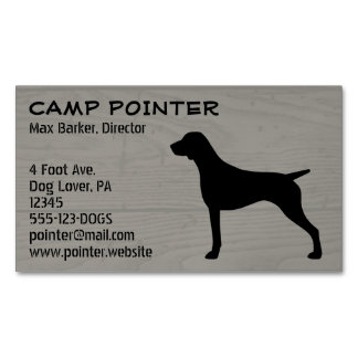 German Shorthaired Pointer Silhouette Magnetic Business Card