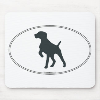 German Shorthaired Pointer Silhouette Mouse Pad