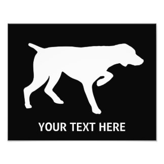 German Shorthaired Pointer silhouette Photo Print