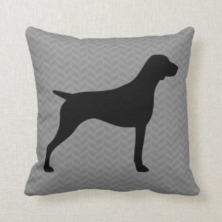 German Shorthaired Pointer Silhouette Throw Pillow