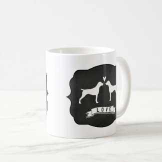 German Shorthaired Pointer Silhouettes Love Coffee Mug