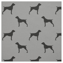 German Shorthaired Pointer Silhouettes Pattern Fabric